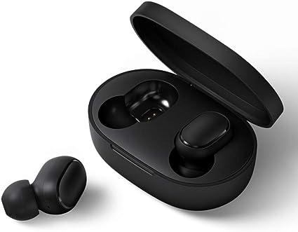 Xiaomi TWSEJ04LS Redmi Airdot Wireless Earphone Bluetooth 5.0 Stereo Earbuds Charging Case Mini Headphones Sweatproof Sport in-Ear Earphones Black, Small