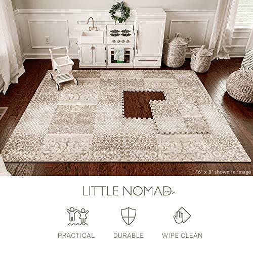Little Nomad Baby Foam Play Mat Authentic Roam Free 4 x 6 Soft Interlocking Floor Tiles   Resembles an Area Rug   As Seen On Shark Tank Dusk Beige