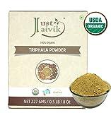 Just Jaivik Organic Triphala Powder – USDA Certified Organic, 227 gms/1/2 LB Pound/08 oz – Best of Indian Ayurveda