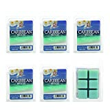 Hosleys Caribbean Breeze Wax Cubes / Melts - Set of 6 / 2.5 oz each. Hand poured wax infused with essential oils.