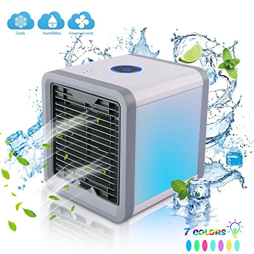 AIVANT Portable Air Conditioner, USB-Powered Personal Small Air Circulator Cooler Humidifier Air Purifier for Home Office Outdoor Powered by Power Bank/Wall Chargers