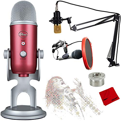 Blue Microphones Yeti USB Microphone with Ultimate Recording Bundle - (Steel Red) from Blue Microphones