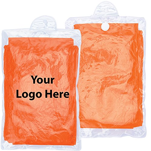 Promotional Rain Ponchos - Disposable Rain Poncho - 150 Quantity - $1.95 Each - Promotional Product/Bulk with Your Logo/Customized