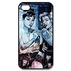 Pink Ladoo? audrey hepburn and marilyn monroe Personalized Custom Plastic Hard CASE for iPhone 5 5s Durable Case Cover