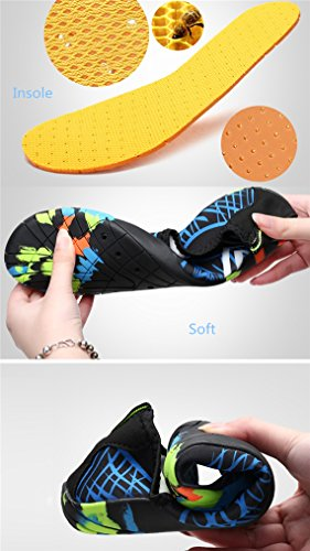 Swim Exercise Shoes Yoga Water Water Mens Sports Type1 Unisex Barefoot FONDBERYL Pool Dry Sand Womens Durable Sole for Shoes Beach Quick Lightweight Aqua Surf EwpB4