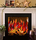 Wind & Weather LT7598 Stained Glass Roaring Fire Screen, MUL, Multi/Color