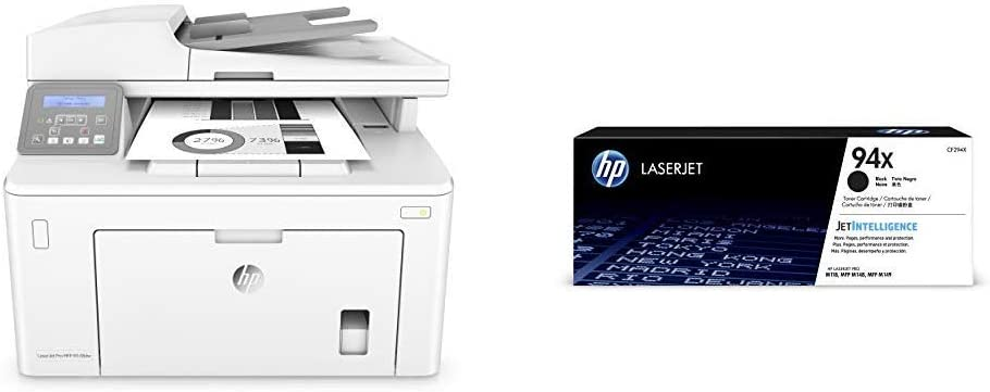 HP Laserjet Pro M148dw All-in-One Wireless Monochrome Laser Printer with Auto Two-sided Printing, Mobile Printing & Built-in Ethernet (4PA41A) with High Yield -Toner Bundle