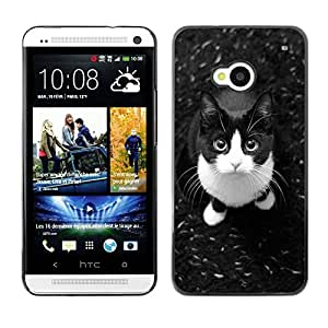 Planetar® ( Cute American Shorthair Housecat Cat ) HTC One M7 Fundas Cover Cubre Hard Case Cover