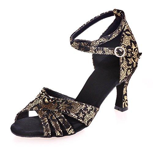 L@YC Zapatos De Baile De Mujer De ante / Lentejuelas Brillantes / Cubana SintéTica Con Multicolor Gold