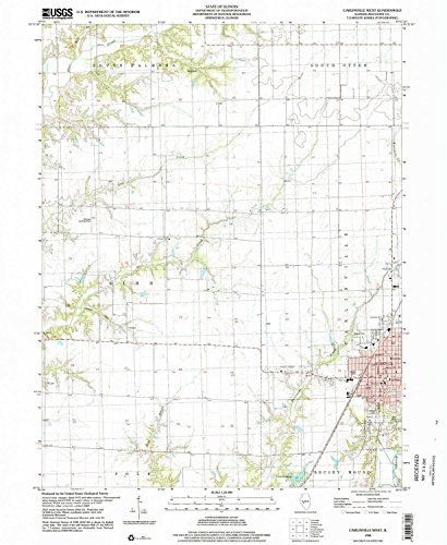 Carlinville West IL topo map, 1:24000 scale, 7.5 X 7.5 Minute, Historical, 1998, updated 2002, 26.8 x 22 IN - Paper ()