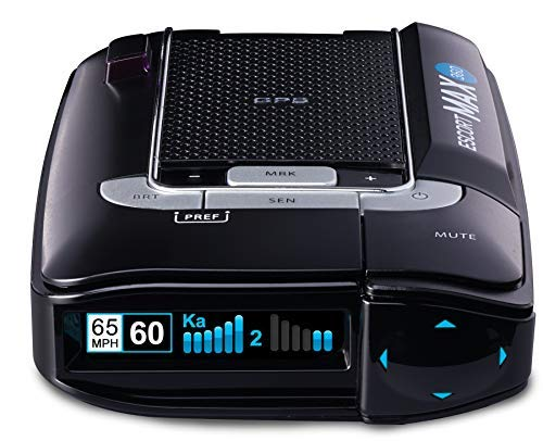 (ESCORT X80 Radar Detector W/ Bluetooth and Live Crowd Sourcing, Extreme Long Range Early Alert Protection, False Alert Filter, Multi-Color OLED Display, Crystal Clear Voice Alerts)