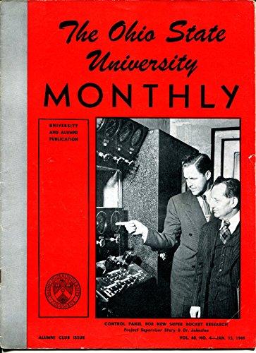 (Ohio State University Monthly 1/15/1949-photos-alumni info-Buckeyes-Dr Boord-VG)