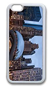 MOKSHOP Adorable Cloud Gate Chicago Soft Case Protective Shell Cell Phone Cover For Apple Iphone 6 (4.7 Inch) - TPU White