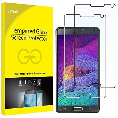JETech 2-Pack Screen Protector for Samsung Galaxy Note 4, Tempered Glass (Best Galaxy Note 4 Screen Protectors)