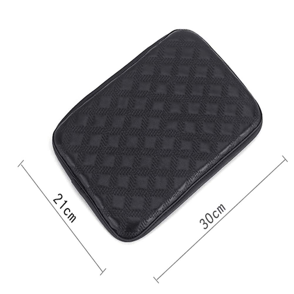 Console Cover Armrest Pads PU Leather Universal Car Center Console Box Arm Rest Pads Cushion Protector Black Auto Center Console Pad