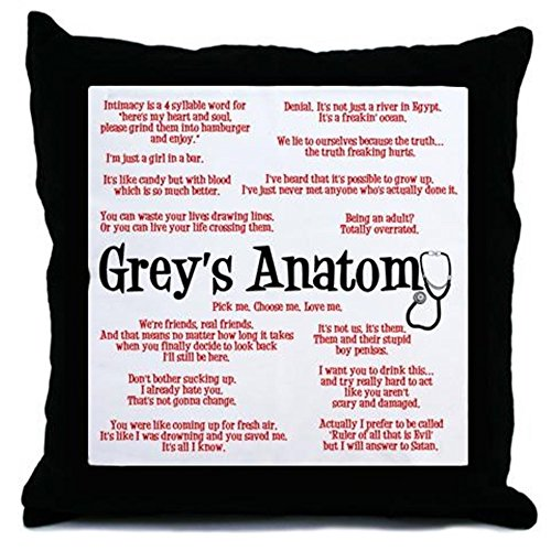 CafePress - Grey's Anatomy Quotes - Throw Pillow, Decorative