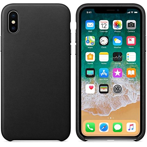 Price comparison product image Creazy Ultra-Thin Leather Soft Case Cover For iPhone X (black)