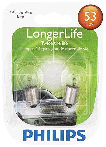 Philips 53 LongerLife Miniature Bulb, 2 Pack