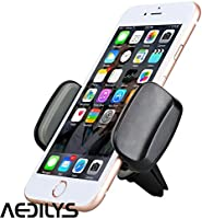 Car Phone Holder, AEDILYS Air Vent Car Mount Phone Holder with 360° Rotation for iphone x / iPhone 8 / 7/7 Plus/6S/6 Plus 5S SE, Samsung Galaxy S7/S6 edge/S6/S8 (Black)