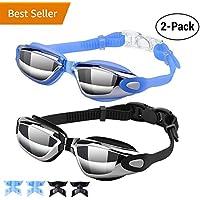 Hurdilen Swim Goggles, Swimming Goggles Anti-Fog UV...