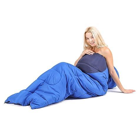 LAIABOR Saco Dormir Estaciones Momia Impermeable para Camping Viaje Cálido Saco De Dormir Confort Contiene Bolsa