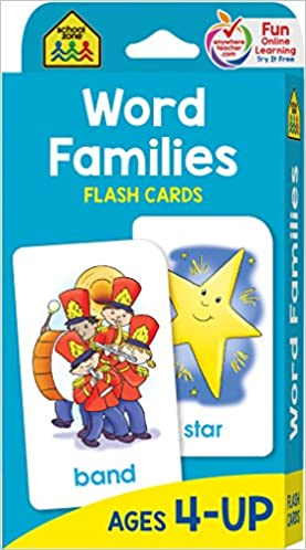 amazon word families flash cards school zone card games