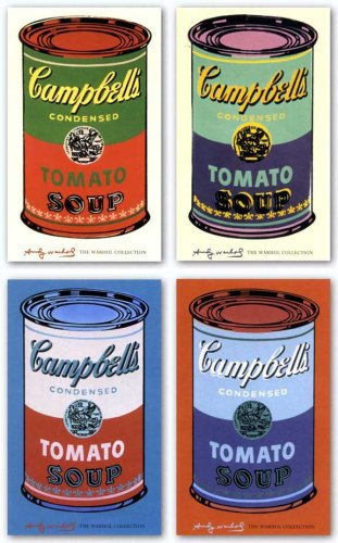 Campbell's Soup Can, 1965 Set by Andy Warhol Art Print Poster