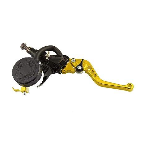 Embrague Palanca Juego de Palanca Universales de Freno y Cilindro Maestro Embrague Hidráulico con depósito para líquido para Frenos para Motocicleta: ...