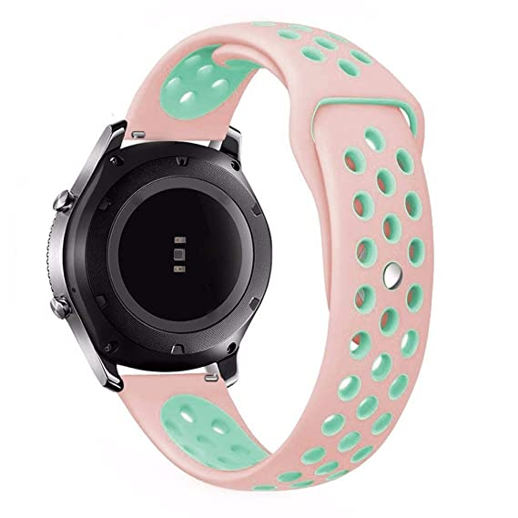 Jewh 22mm Sport silicone strap band for samsung gear s3 frontier - Double Color Silicone Rubber