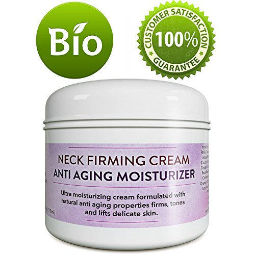 Neck Firming Cream Anti-Aging Moisturizer For Women And Men - Firms Tones And Lifts Delicate Skin - Anti Wrinkle Cream With Antioxidants Coconut Jojoba & Avocado - 4 Oz - Paraben free By Honeydew