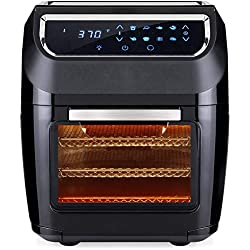 Best Choice Products 11.6qt 1700W 8-in-1 Electric XL Air Fryer Oven, Rotisserie, Dehydrator Kitchen Cooking Set w/ 8 Accessories, LED Touchscreen, Removable Door, Viewing Window, Overheat Protection