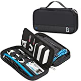 BGTREND Electronic Accessories Travel Organizer Cable Carry Bag Water Resistant for Kindle Paper White Portable Charger Pens Cables Passport, Black