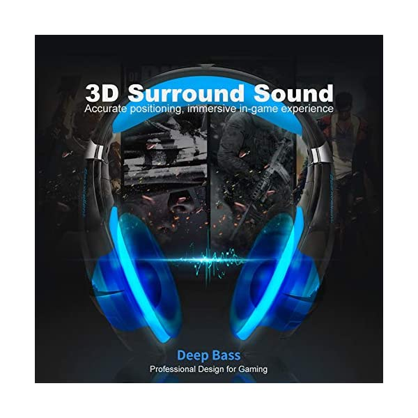 Gaming Headset For Xbox One Ps4 Nintendo Switch Pc Selieve Noise Cancelling Over Ear Headphones With Mic Led Light Bass Surround Soft Memory