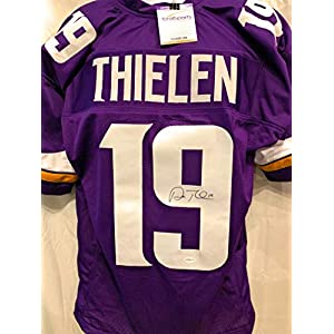 Adam Thielen Minnesota Vikings Signed Autograph Purple Custom Jersey Certified