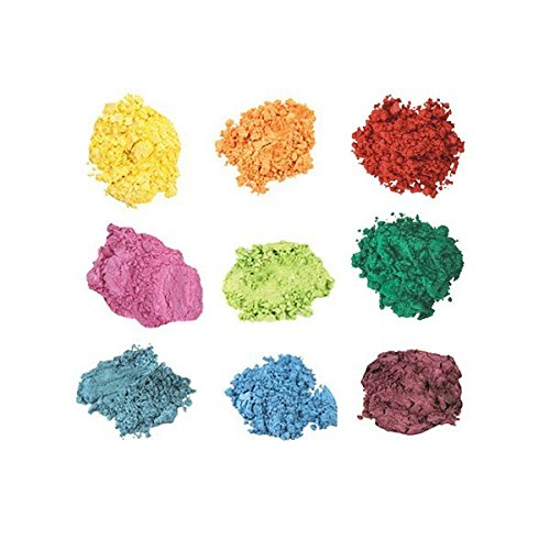 Mineral Shimmer Makeup Eyeshadow Highlighting Powder - Glitter Metallic Dust for Face, Hair & Nails (9-Stack - Turquoise)