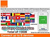 Orange SIM Card 4G/LTE Europe Mobile WiFi Hotspot Rentals 500mb/day (Total 15GB) - 30 Days