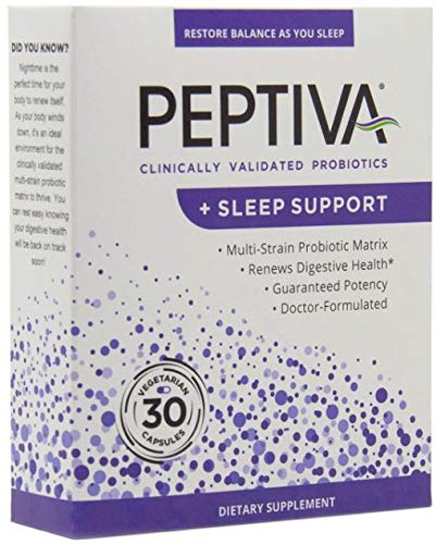 (Peptiva 26 Billion CFU Probiotic and Sleep Support - Clinically Validated Doctor Formulated Multi-Strain Probiotic - Lactobacillus and Bifidobacterium, Melatonin)