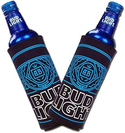 Bud Light Aluminum Bottle Cooler Set of 2