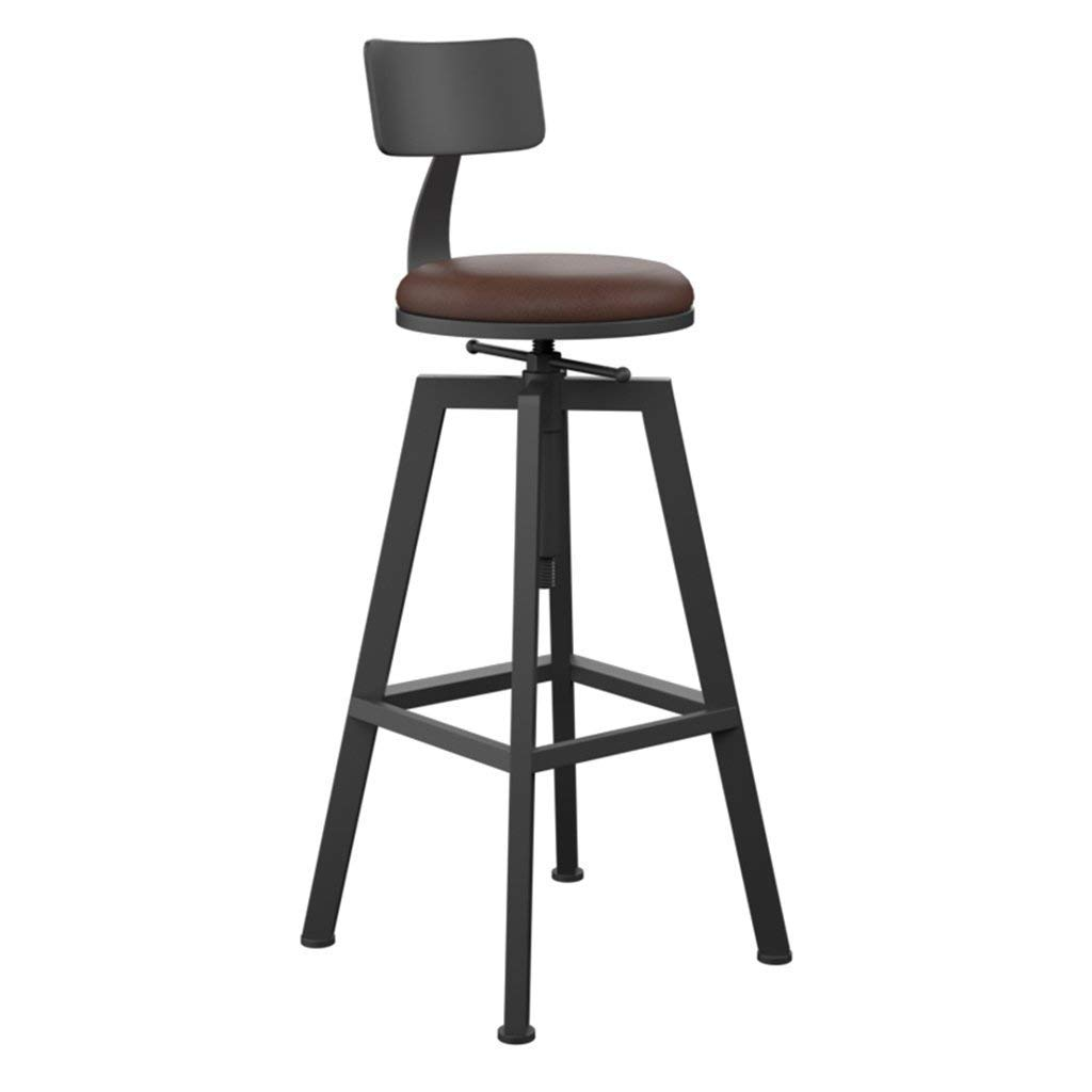 C Bar Stools, High Stool Round Stool Pub Chair Dining Chair Iron Chair Height Adjustable 65 to 85cm