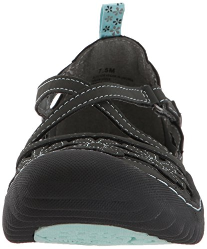 Jbu Da Jambu Womens Blossom Vegan Mary Jane Flat Charcoal