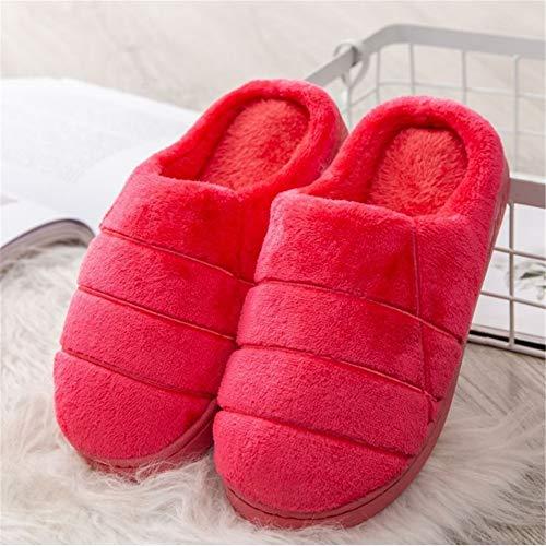 Calde E Calda 39 Donna Chengzuoqing Confortevole 38 Per Rosso Invernali colore Casa Pantofole Cotone Dimensione In Antiscivolo Da Rosa Esterno ywAUxvUOq8