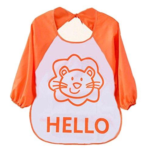 AMA(TM) Baby Kids Infant Feeding Bibs Towel Cartoon Burp Cloths Saliva Aprons (Orange)