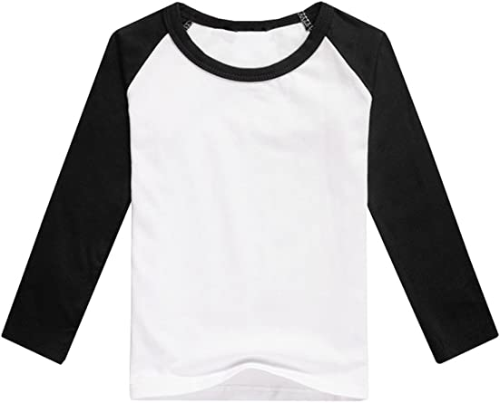 Gemijack Unisex Para Niños Raglán Manga Larga Playera De Jersey De Béisbol Para Niños Niñas De Punto Playera Tops Negro Clothing