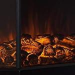 Klarstein-Castillo-Camino-Elettrico-Caminetto-Effetto-fiamma-2-livelli-1000-W-o-2000-W-Illuminazione-alogena-Protezione-contro-surriscaldamento-Stanze-fino-a-40-m-Silenzioso-Nero