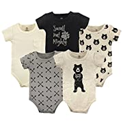 Yoga Sprout Baby Cotton Bodysuits, I Love Hugs 5Pk, 3-6 Months