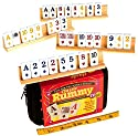Rummy to Go (Compact Travel Version) with Classic Card Faces _ With Four 8` Wooden Tile Holders _ Bundled Items