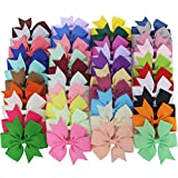 Chiffon Baby Girls Boutique Grosgrain Ribbon Pinwhell Hair Bows clips For Teens Babies Kids Toddlers Set Of 40 Colors