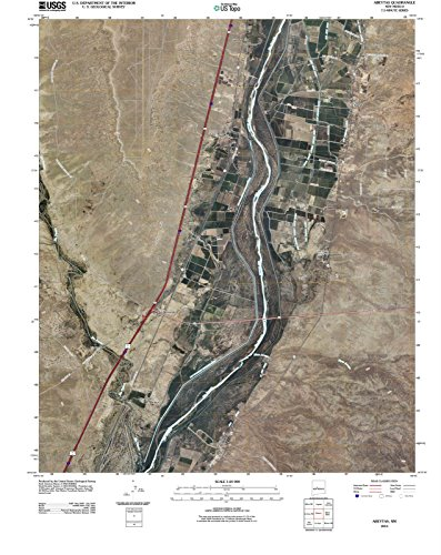 - New Mexico Maps | 2010 Abeytas, NM USGS Historical Topographic | Cartography Wall Art | 18in x 24in