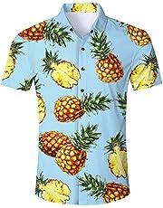 949eb0ae1 Goodstoworld Mens Casual Shirts Funky 3D Printed Short Sleeve Colourful  Hawaiian Shirts S-XL