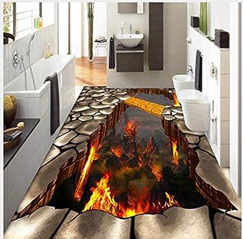 3d Boden Wandbild Benutzerdefinierte Bodenbelag Wandbild Tapete Lava
